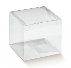 Caixa acetato transparente automatico 60x60x60mm