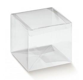 Automaattinen läpinäkyvä asetaatti laatikko 80x80x80mm