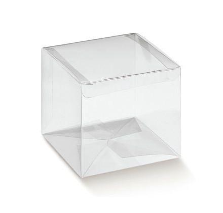 Caixa acetato transparente automatico 80x80x80mm