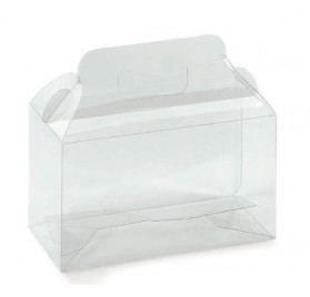 Transparent acetate box for 130x60x90mm bottles