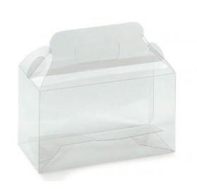 Bottiglie di acetato trasparente scatola 2 180x90x130mm