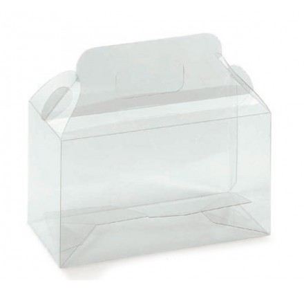 Transparent acetate box 2 180x90x130mm bottles