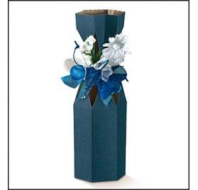 Caixa juta blu saccolo 1 garrafa