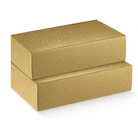 Caja Sfere Oro Cantinetta para 2 botellas