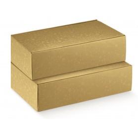 Sfere oro cantinetta scatola per 3 bottiglie