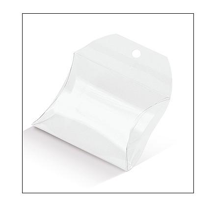 Caixa acetato transparente borsetta 55x55x17mm