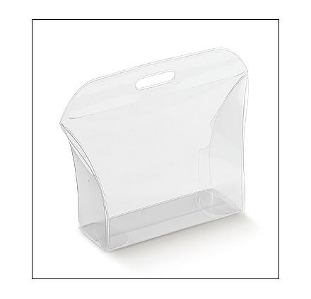 Caixa acetato transparente borsetta new 80x25x80mm