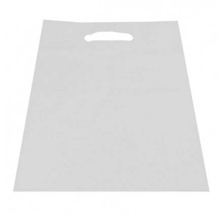 Plastiktüte durchgesickert weiß 15 x 25 Flügel