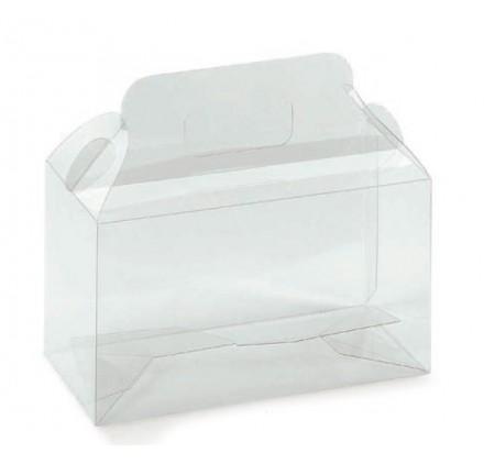 Caja acetato transparente 2 frascos 180x90x160mm