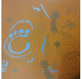 papel de embrulho liso laranja natal