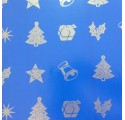 paper christmas blue smooth wrapping