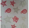 Papel de regalo kraft verjurado natural con dibujos de navidad