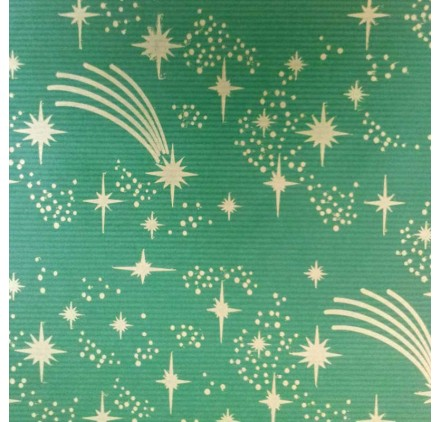 papel de embrulho kraft verjurado natural verde natal