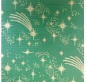 kraft papír Vánoce zeleným zemního verjurado obal