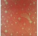 Paper natural red verjurado kraft wrapping stars