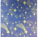 Papír kraft přírodní modré verjurado hvězdy obal