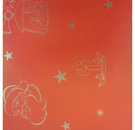 papel de embrulho liso vermelho natal