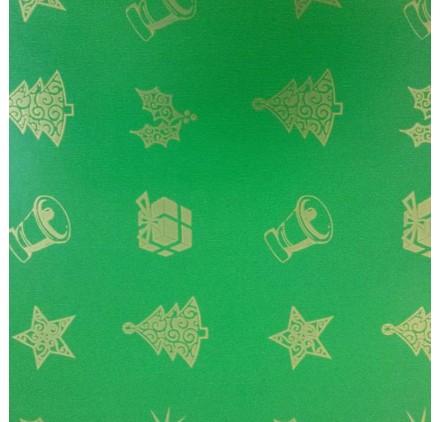 papel de embrulho liso verde natal