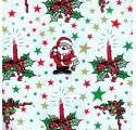 Papel de regalo blanco liso con dibujos de navidad4