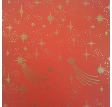 papel de embrulho liso vermelho estrelas