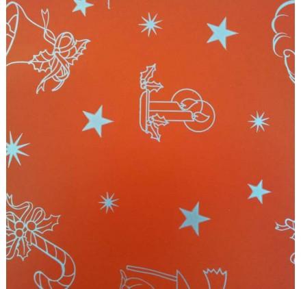 papel de embrulho liso vermelho natal3