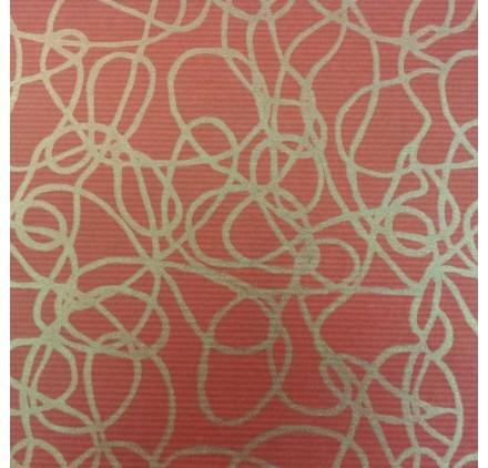 papel de embrulho kraft verjurado natural vermelho linhas