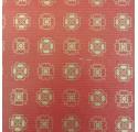 φυσικό χαρτί kraft verjurado περιτυλίγματος στα κόκκινα τριφύλλια