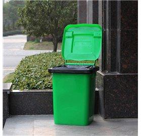 Saco para lixo industrial Preto 80x120cm 60my