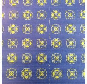 papel de embrulho kraft verjurado natural azul trevos