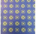 Papel de regalo kraft verjurado natural azul con tréboles