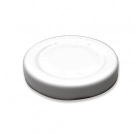 Weiße metallischer Abdeckung