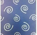 Rollos de Papel de regalo  kraft verjurado natural azul con espirales