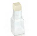 Pelle bianco 40x40x105mm bottiglietta laatikko