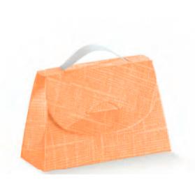 Caixa seta arancio cartella 85x30x55mm