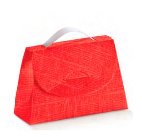 Caixa seta rosso cartella 85x30x55mm