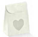 bolsa tela bianco con janela coração 60x35x80mm