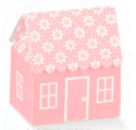 Atelier rosa boîte casetta 60x70x70mm fleurs