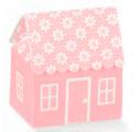 Caixa atelier rosa casetta flores 60x70x70mm