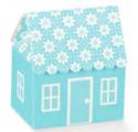 Atelier maison 60x40x70mm fleurs bleu boîte