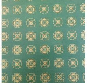 papel de embrulho kraft verjurado natural verde trevo