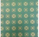 Paper natural green clover verjurado kraft wrapping