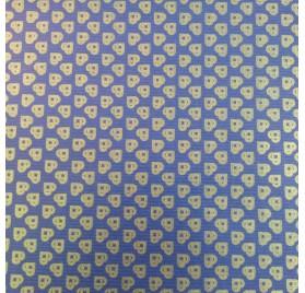 papel de embrulho kraft verjurado natural azul coraçoes