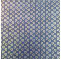 Papel de regalo kraft verjurado natural azul con corazones