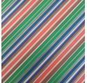 Papel de regalo kraft verjurado natural con líneas de varios colores