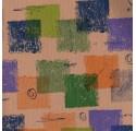Papper naturlig verjurado kvadrat kraftomslags