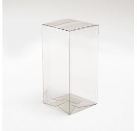 Box vita bollar för en flaska med fönster