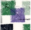 Papel de regalo blanco liso con cuadrados de varios colores