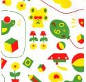 Papel de regalo blanco liso con dibujos infantiles