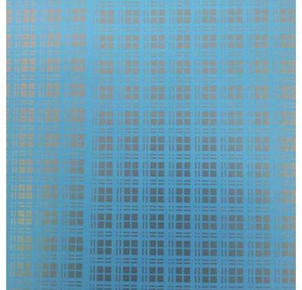 papel de embrulho liso azul bébé quadradinhos