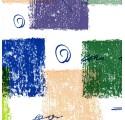 Papel de regalo blanco liso con cuadrados2 de varios colores